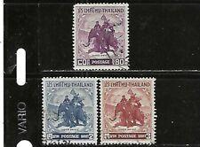 Thailand.#305 & 307-08.Used.1955.Scv $10.00
