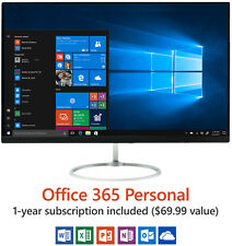 1920x1080 FHD All-In-One Desktop PC Computer Win 10 w/ Wireless Keyboard & Mouse