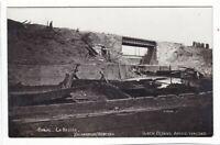 uralte AK Photo-AK Canal La Bassee durch feindl. Artillerie zerstört //03