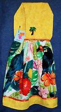 **NEW** Handmade Tropical Birds Flowers Toucans Hanging Kitchen Hand Towel #1598
