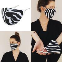 Stoffmaske Gesichtsmaske Mundnasenmaske Behelfsmaske Maske Zebra Animalprint