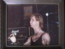 JUDAS PRIEST ROB HALFORD COLOR PHOTO ONSTAGE OHIO UNIVERSITY 9/19/79 AUTOGRAPHED