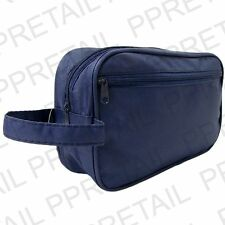 Large MENS WASH TOILETRY BAG + WRIST STRAP Zip Case - Holiday Travel Cosmetics