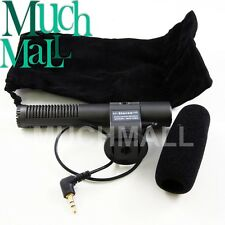 US SG-108 3.5mm jack Stereo Shotgun Microphone for Video DV Camcorder Sony Canon
