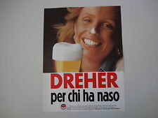 advertising Pubblicità 1976 BIRRA BEER DREHER