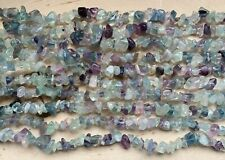 "34"" Purple Fluorite Gemstone Natural CHIPS 4-8mm, 34"" Strand"