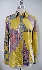 ETRO paisley print cotton shirt blouse women's Italian size 48