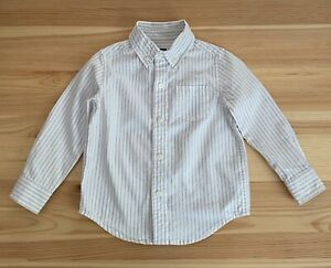 JANIE AND JACK Classics Gray Stripe Button Up Shirt Size 18-24 Months