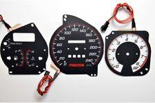Mazda 323F BG design 3 glow gauges dials plasma dials kit tacho glow dash shift