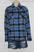 NWOT Outback Trading Company Sz S Blue Black Plaid Snap Western Shirt