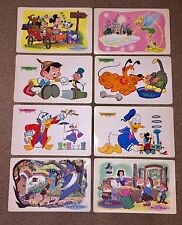 Set Of 8 Walt Disney Placemats 1960 Vintage Mickey Minnie Tinker Bell Donald Etc