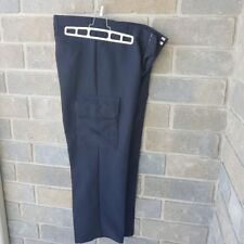 Men Sz 34 Uniform Security Guard Cargo Navy Pants Blue Black (72$ Value)
