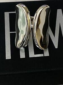 Robert Lee Morris Soho Sliver Tone Ring With Gift Box And Bag. Size 7 1/2