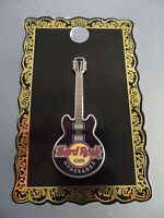 Hard Rock Cafe Hyderabad - Classic Core - 4 String Purple Guitar with Logo Pin