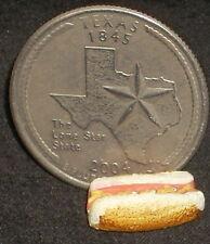 Hot Dog w/ Mustard State Fair 1:12 Lunch Picnic Texas Dollhouse Miniature #T8573