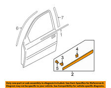 HYUNDAI OEM 06-09 Accent FRONT DOOR-Body Side Molding Left 877211E000