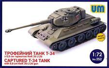 UM-MT Models 1/72 CAPTURED T-34 TANK with 88mm KwK 36 L/36 Gun