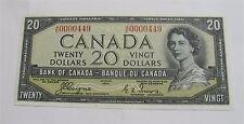 1954 CANADA $20 DOLLARS DEVIL'S FACE UNC CRISP BC-39aA-i A/E 0000449