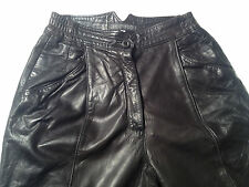 EUC - RRP $479 - Womens Stunning BRIGID BROCK LEATHER Lined Pants Size 7