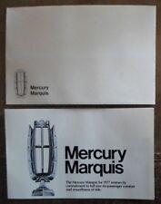MERCURY MARQUIS orig 1977 USA Mkt Mailer Brochure in Envelope - Grand Brougham