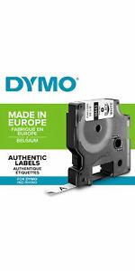 DYMO Rhino - Etiquettes Industrielles Vinyle 9mm x 5.5m - Noir sur Blanc