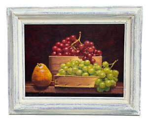 Paul Lipp (American 20th Century) Oil on Board, Fruit Still Life