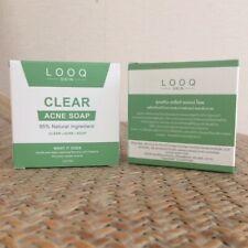 LOOQ Skin Clear Acne Soap 95% Natural Ingredient  100  g (1 bar)