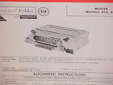 1959 DODGE ROYAL CORONET DESOTO ADVENTURER CONVERTIBLE AM RADIO SERVICE MANUAL