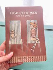 "SHINZI KATOH French Girlish Mood w/ Dog Medium Size Lined Paper 8"" Journal NEW!"
