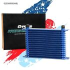 Fit For 15 Row Universal Engine Transmission Aluminum An-10 Oil Cooler Blue-g