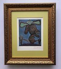 Pablo Picasso Original 1948 Hermoso Firmado Estampado Mate 11 X 14 + De