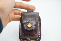 Zippo Leather Case Lighter Holder USA Made Pouch Handmade Belt Loop Lock Vintage