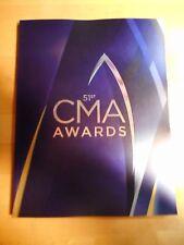 2017 51st CMA Awards Show Program - 11-08-2017