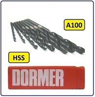 DORMER HSS JOBBER DRILL BIT FOR STEEL / METAL 8.2MM TO 13.0MM A100 DORMER BRAND
