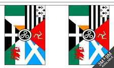 Celtic Nations 3 metre long, 10 flag bunting