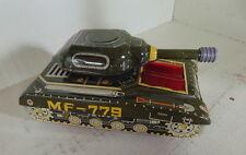 military tank MF779  Vintage pressed tin toy