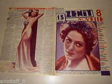 NIVES POLI=DOLORES DEL RIO=1937/15=Novelle Zenit=Cover magazine=