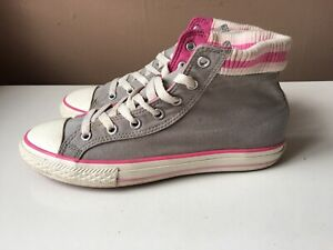 CONVERSE ALL STAR grey high top trainers size 4/37