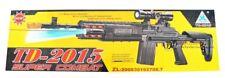 Kids Realistic TD2015 Combat Toy Gun Soldier Army Machine Lights Sound BEST GIFT