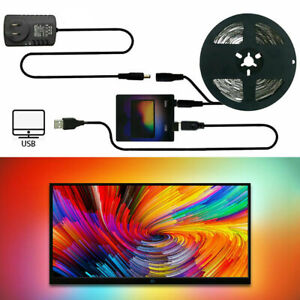 Home DIY WS2812B USB LED Strip Tape TV Computer PC Dream Screen Backlight Kit D