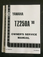 NEW, GENUINE YAMAHA TZ250 A 3TC 1990 OWNERS W/SHOP MANUAL