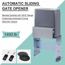 1400 lbs Auto Sliding Gate Opener Driveway Opening Kit Security System