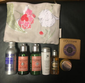 L'occitane Gift Set 7 Items In Cosmetic Bag Perfect Washbag For Holidays