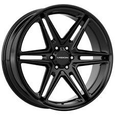 4 Vision 476 Wedge 22x95 6x55 15mm Gloss Black Wheels Rims 22 Inch Fits Nissan Armada