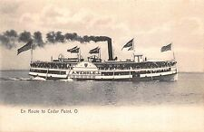 Postcard A. Wehrle Jr. Steamer En Route to Cedar Point, Ohio~113409