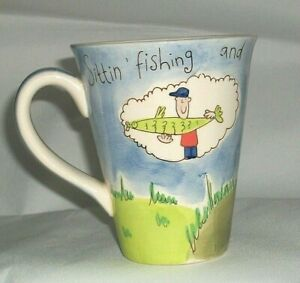 Beth Whithard  Coffee  Mug - Still Sitting' Fishing and Wishing with the Gnomes