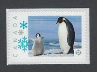 PENGUIN FAMILY flightless SEABIRD Picture Postage Canada 2014 p76bd5/2