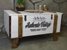 Couchtisch Wohnzimmertisch Holz NEU Truhe Kiste Landhaus Weiß Used Shabby LV2060