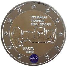 Pièce de 2 euros commémorative MALTE 2019 - Ta'Hagrat - UNC  400 000 exemplaires