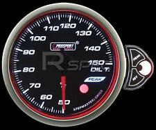 Prosport 52mm Smoked Stepper Motor Gauge Oil Temp Deg C White Blue Amber